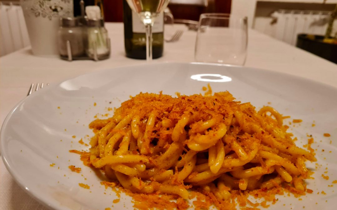 Le ricette segrete dell'Hostaria: Bigoli al torchio alle due bottarghe