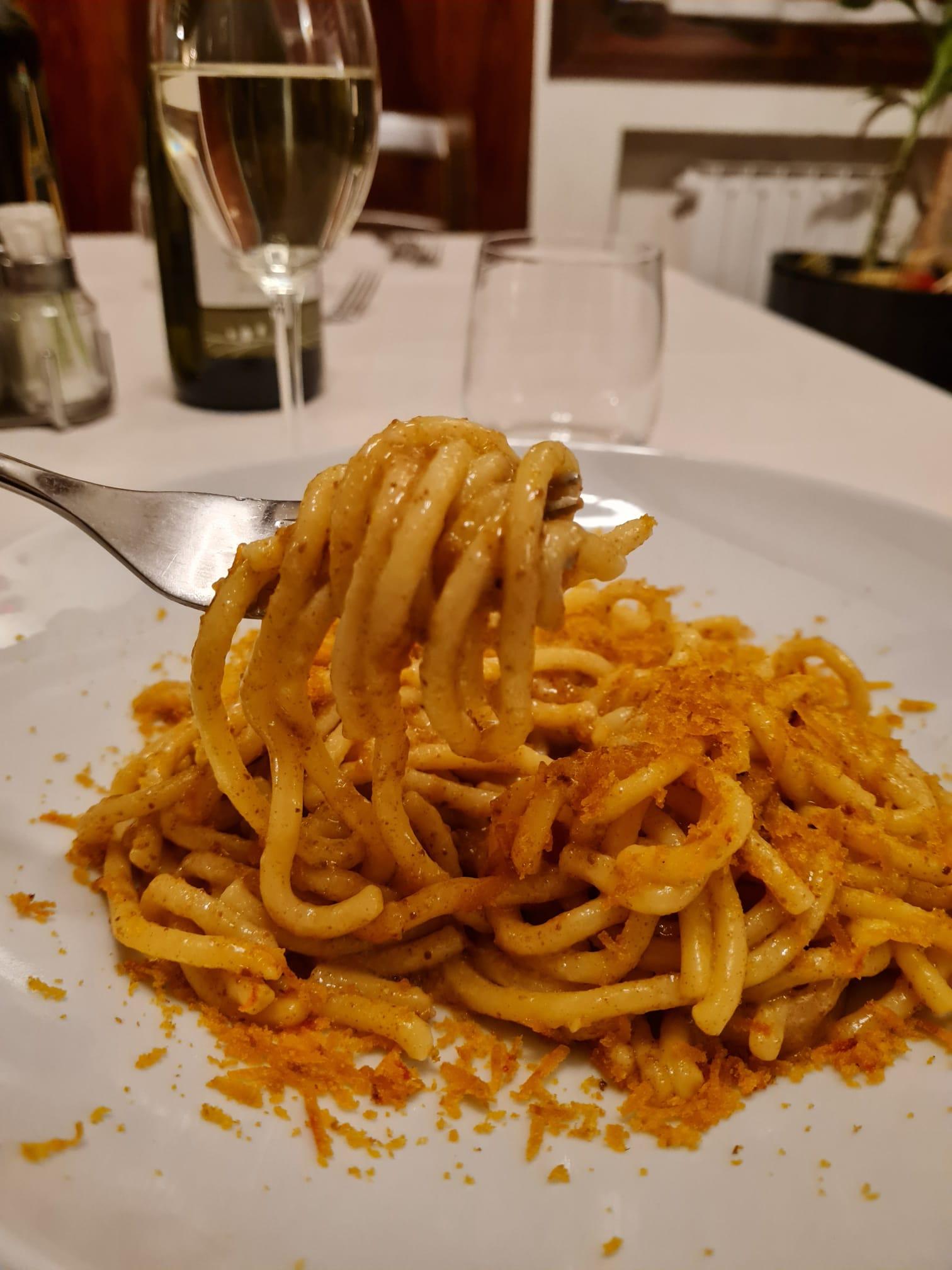 hostaria dante mestre Fegato di Vitello alla veneziana con polenta